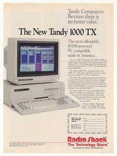 Radio Shack Tandy 1000 TX Computer (1987)
