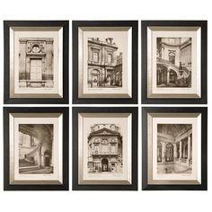 6-Piece Paris Framed Print Set
