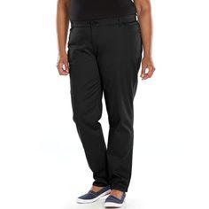 Plus Size Lee Relaxed Fit Straight-Leg Pants, Women's, Size: 16W Short, Black