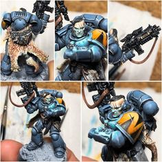 RUNAD, my Comms Intercessor, almost finished. I liked the weapon, unfortunately it was on the wrong arm. So I changed it. I'm very happy with how the osl turned out 😊 : killteam Warhammer Paint, Warhammer Fantasy, Warhammer 40000, Guardia Imperial 40k, Wolf Time, Warhammer 40k Space Wolves, Miniaturas Warhammer 40k, Wolf Painting, Warhammer 40k Miniatures
