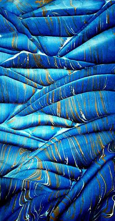 Marbled paper/ebru by Necmiye Albayrak.