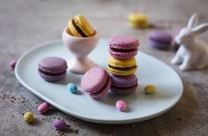 Speckled Easter Egg Macarons with Chocolate Ganache
