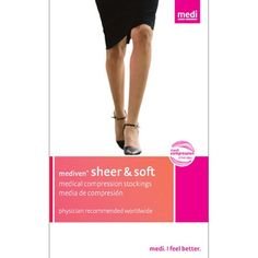 73ea39fea68b9 Mediven Sheer and Soft Petite Compression Hosiery mmHg Thigh High Closed  Toe with Silicone band