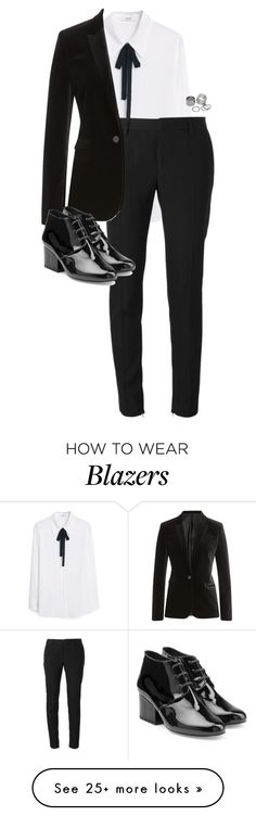 """""""Untitled #10043"""" by alexsrogers on Polyvore featuring MANGO, Yves Saint Laurent, The Kooples, Robert Clergerie and Pieces"""