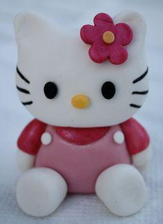Hello Kitty Inspired Fondant Cake/Cupcake Topper. $35.00, via Etsy.