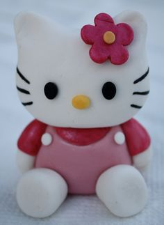 Pink Hello Kitty Inspired Fondant Cake/Cupcake Topper.