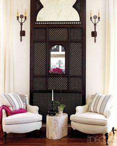 Celebrity Interiors – Ellen Pompeo at Home - ELLE DECOR striped pillows with pop of pink Decor, Celebrity Interiors, House Design, Interior Design, Family Room, Interior Inspiration, Interior, Room Design, Home Decor