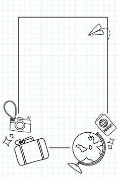 Bullet Journal Banner, Bullet Journal Ideas Pages, Bullet Journal Inspiration, Travel Inspiration, Travel Doodles, Bibel Journal, Page Borders Design, Bullet Journal Aesthetic, Simple Doodles