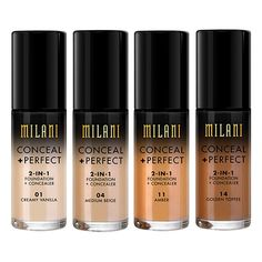 Milani Conceal And Perfect 2 In 1 Foundation And Concealer | Makeup | Beauty Bay