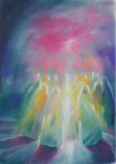 Painting moving the soul with color - inviting Spirit - prophetic art. Deviant Art, Rudolf Steiner, Spiritual Paintings, Angel Images, Prophetic Art, Spirited Art, Diy Art Projects, Jesus Pictures, Angel Art