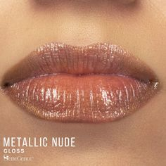 LipSense Metallic Nude Gloss by SeneGence is described as a lightly shimmering nude-beige gloss.  Perfect for everyday wear with or without lipstick underneath.  This color is going to be your new favorite lipcolor shade.