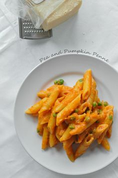 Pea and Pumpkin Penne