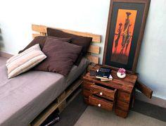#pallets #arredamento #furniture #letto #comodino #artisanal  #bedsidetable #bed