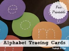 Free alphabet tracing cards and 5 fun, hands-on follow ups. Awesome take along for Thanksgiving road trips!  {Playdough to Plato}