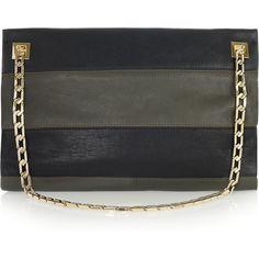 Victoria Beckham|Two-tone leather shoulder bag|NET-A-PORTER.COM ($2,545) via Polyvore