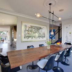 contemporary dining room by LEANARCH Inc.