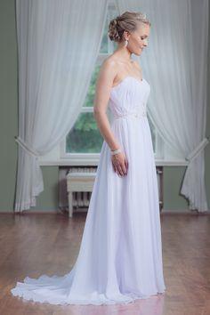 Mecco Wedding dress MW10075 Strapless Dress Formal, Formal Dresses, Bridesmaid Dresses, Wedding Dresses, Fashion, Tea Length Formal Dresses, Ruffles Bridesmaid Dresses, Bride Dresses, Moda