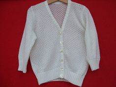 cardigan bimba maglia  cotone lana di maglieriamagica su Etsy, €32.00