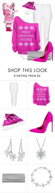 """""""PYNK SNOW by ShaunSlay"""" by shaunslay ❤ liked on Polyvore featuring Topshop, Brian Atwood, Bling Jewelry and Stuart Weitzman"""