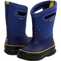 Bogs boots.  These are THE best boots I have EVER purchased for H. Highly recommend for adults as well :)