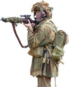British airborne sniper