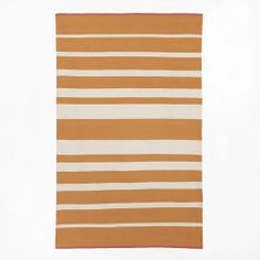 Maybe. It'll really brighten up the room and it's dark back there.  Gradated-Stripe Cotton Rug -Tangerine   west elm
