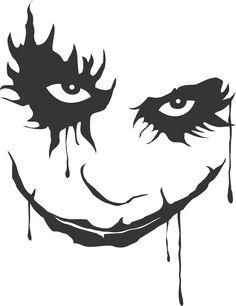 """4"""" Joker  Vinyl Decal Batman Dark Night. $6.00, via Etsy."""