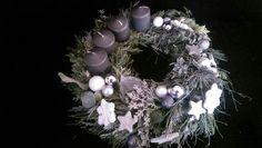 Adventskranz silber Frost grau ohne Kerzen 30€ plus Versand