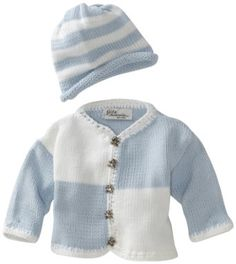 Amazon.com: Gita Accessories Baby-Boys Newborn Hand Loomed Sweater And Hat Set, Light Blue/White, X-Small: Clothing