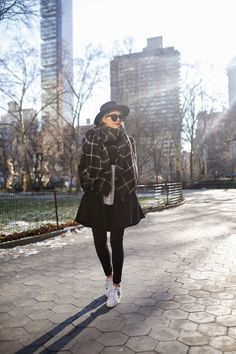 look with maxi scarf