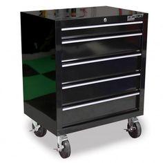 19002 - Cabinet sur roulettes 5 tiroirs - Armoires Proslat - Garage Box