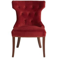 Hourglass Dining Chair Red Damask Red Pinterest