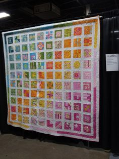 """""""A Rainbow of Color"""" from Tula Pink's City Sampler quilt pattern.  """"Beautiful"""""""