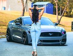 Mustang Girl, Ford Mustang Gt, Trucks And Girls, Car Girls, Sexy Autos, Car Poses, Mustangs, Sweet Cars, American Muscle Cars
