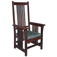 Gustav Stickley, spindle armchair                                                                                                                                                                                 More
