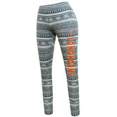 Texas Longhorns Comeback Printed Leggings ($41) ❤ liked on Polyvore featuring pants, leggings, grey, grey pants, print pants, elastic waist pants, grey trousers and graphic print pants
