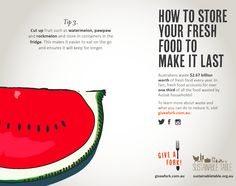 Tips for reducing food waste - storing melons Fruit And Veg, Fruits And Vegetables, Reduce Waste, Composting, Food Waste, Food To Make, Infographic, Gardens, Urban