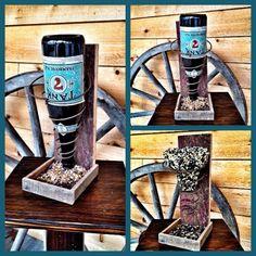 Wine Bottle Bird Feeder   RepurposedRecycling, $21.99