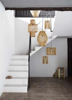 Tendance déco : les fibres naturelles envahissent notre intérieur ! #aufeminin #déco #décoration #deco #interieur #interior #rotin #paille #bambou #rafia #osier #paniers #suspensions