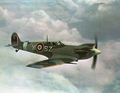 Spitfire V - British Supermarine RAF fighter plane from WW2.