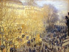 Claude Monet - Carnival on the Boulevard des Capucines, 1873