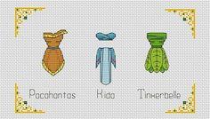 """Pocahontas - Kida - Tinkerbelle"""" Modern cross stitch in pdf BUY 2 GET 1 FREE Robes Disney, Disney Outfits, Disney Cross Stitch Patterns, Cross Stitch Designs, Bead Patterns, Knitting Patterns, Perler Bead Disney, Hama Beads, Pocahontas"""