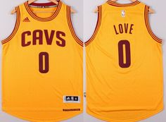 Cleveland Cavaliers #0 Kevin Love Revolution 30 Swingman 2014 New Yellow Jersey