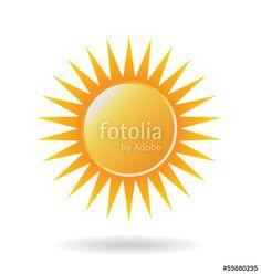 Vector Power Sun Icon