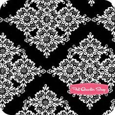 Black and White Black Linda Lace Yardage SKU# CX5276-BLAC-D - Fat Quarter Shop