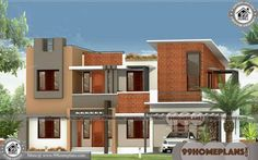 Contemporary Designs of Houses & Two Floor House Design Plans Indian House Exterior Design, Indian Home Design, Best Home Interior Design, Home Design Plans, Duplex House Design, House Front Design, Small House Design, Modern House Design, Free House Plans