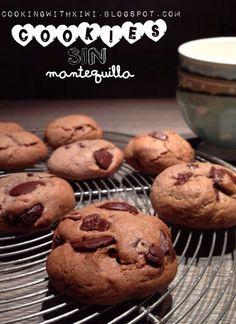 COOKING WITH KIWI: COOKIES DE CHOCOLATE SIN MANTEQUILLA