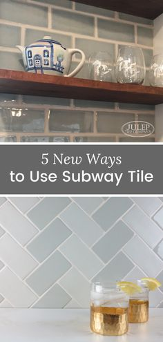In our humble opinion, white subway tile will always be a classic. If, however, you love this look but want to freshen it up a bit we've got some ideas for you! Bathroom Renovations, Home Renovation, Bathrooms, Tile Projects, Handmade Tiles, Kitchen Tiles, Subway Tile, Tile Patterns, Beautiful Kitchens