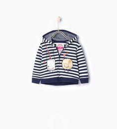 Sweat rayé à capuche - Vestes et pulls - Bébé fille (3 mois - 4 ans) - ENFANTS | ZARA Suisse
