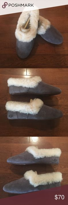 Ugg Slippers! New in box!  Ugg Kendyl slippers.  These were gifted to me, and they're just not my size or style.  Very soft, warm, and cozy!  Purple-grey color.  They fit narrow. UGG Shoes Slippers